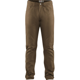 Fjällräven Greenland Canvas Jeans Heren, dark sand